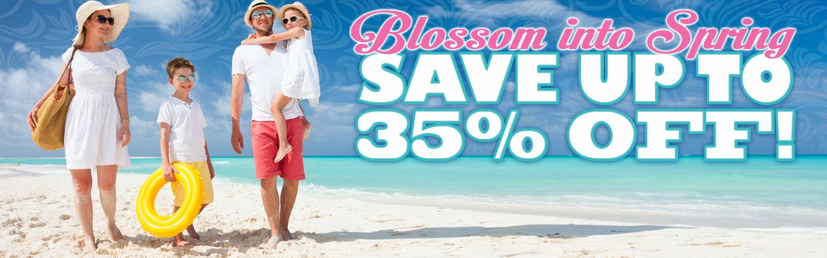 Save up to 35% off spring in Myrtle Beach